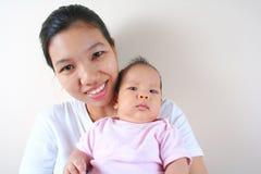 Mamma und Schätzchen Stockbild