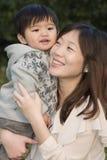 Mamma und Sohn Stockfoto