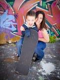 Mamma und Sohn stockbilder