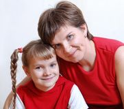 Mamma und Tochter Lizenzfreie Stockbilder