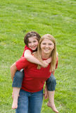 Mamma und Tochter stockfoto
