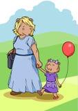 Mamma-und Tochter-Bär Lizenzfreies Stockbild