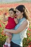 Mammaabd behandla som ett barn Royaltyfri Fotografi