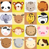 Mammal Icon Vector Set Royalty Free Stock Photos