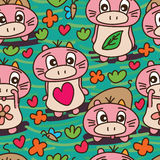 Mammal unknown specific cute seamless pattern Royalty Free Stock Photography