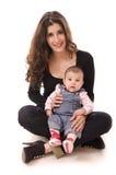 Mamman och behandla som ett barn Arkivbild