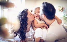 Mamman och pappan älskar mig så mycket ballerina little Royaltyfria Foton