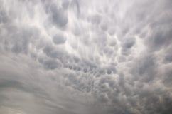 Mammatus chmury Obraz Royalty Free