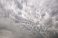 Mammatus clouds Royalty Free Stock Image
