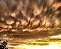 Mammatus clouds Stock Photography