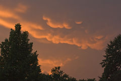 Mammatus clouds Stock Images