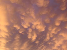 Golden Mammatus Clouds Stock Photos