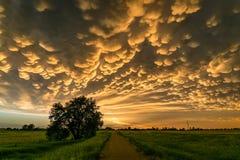 Mammatus nad centralą Nebraska zdjęcie royalty free