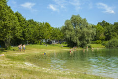 Mammendorf jezioro, Bavaria, Niemcy Zdjęcia Royalty Free