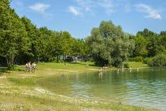 Mammendorf lake, Bavaria, Germany royalty free stock photos