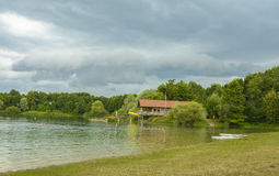 Mammendorf lake, Bavaria, Germany Royalty Free Stock Images