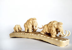 Mammoet familie Royalty-vrije Stock Foto