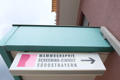 Mammography screening unit Stock Images