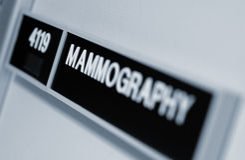 mammographytecken Royaltyfri Bild