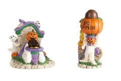 Mammor för Halloween pumpahuvud med choklader Arkivfoton