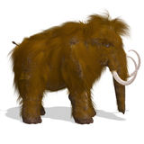 Mammoth. Rendering of a Mammoth with Clipping Path and shadow over white vector illustration