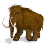 Mammoth. Rendering of a Mammoth with Clipping Path and shadow over white stock illustration