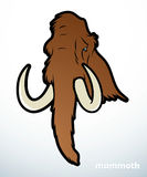 Mammoth. Vector illustration of brown mammoth Stock Image