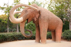 Mammoth. Statue of mammoth in Barcelona park Royalty Free Stock Image