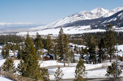 Mammoth. The view from a trail on Mammoth Mountain, CA Stock Photography