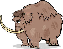 Mammoth cartoon illustration Royalty Free Stock Image
