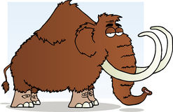 Mammoth cartoon mascot character Royalty Free Stock Photo