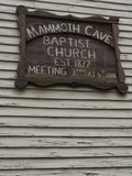 Mammoth cave church sign Stock Image