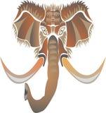 Mammoth como um símbolo, emblema, sinal ilustração stock