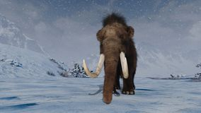 Mammoth. 3D CG rendering of a mammoth stock photo
