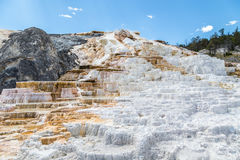 Mammoth Hot Spings in Yellowstone National Park, Wyoming, USA Royalty Free Stock Images