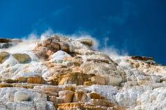Mammoth hot spring Royalty Free Stock Image