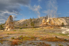 Mammoth Hot Springs photos stock