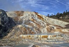 Mammoth Hot Springs foto de archivo