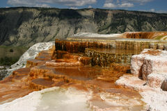 Mammoth Hot Springs Fotos de archivo
