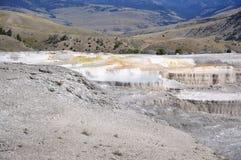Mammoth Hot Springs Royaltyfri Foto