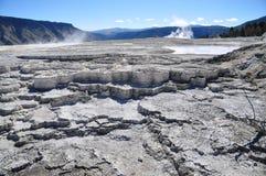 Mammoth Hot Springs Fotografering för Bildbyråer
