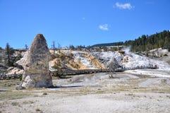 Mammoth Hot Springs Royaltyfri Fotografi