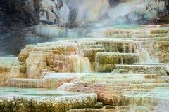 Mammoth Hot Springs Fotografia Stock Libera da Diritti