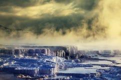 Mammoth Hot Springs Photographie stock libre de droits