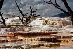 Mammoth Hot Springs alla sosta nazionale 2 del Yellowstone Fotografia Stock