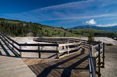 Mammoth Hot Springs Boardwalk Royalty Free Stock Photography