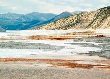 Paisagem de Mammoth Hot Springs imagem de stock