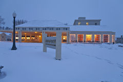 Mammoth Hot Springs Hotel, Winter, Yellowstone NP Royalty Free Stock Images