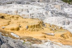 Mammoth Hot Springs. Northern entrance, Yellowstone National Park, USA Stock Photo
