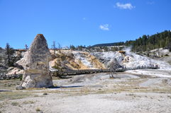 Mammoth Hot Springs Royalty Free Stock Photography